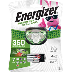 Energizer  350 lumens Green  LED  Headlight  AAA Battery