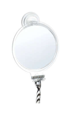 InterDesign  Shower Mirror  8 in. H x 2.3 in. W x 5.8 in. L Clear  Plastic