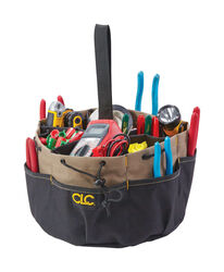 CLC  10 in. W x 7 in. H Polyester  Bucket Organizer  18 pocket Black/Tan  1 pc.