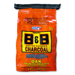 B&B Charcoal All Natural Oak Hardwood Charcoal Briquettes 8.8 lb.