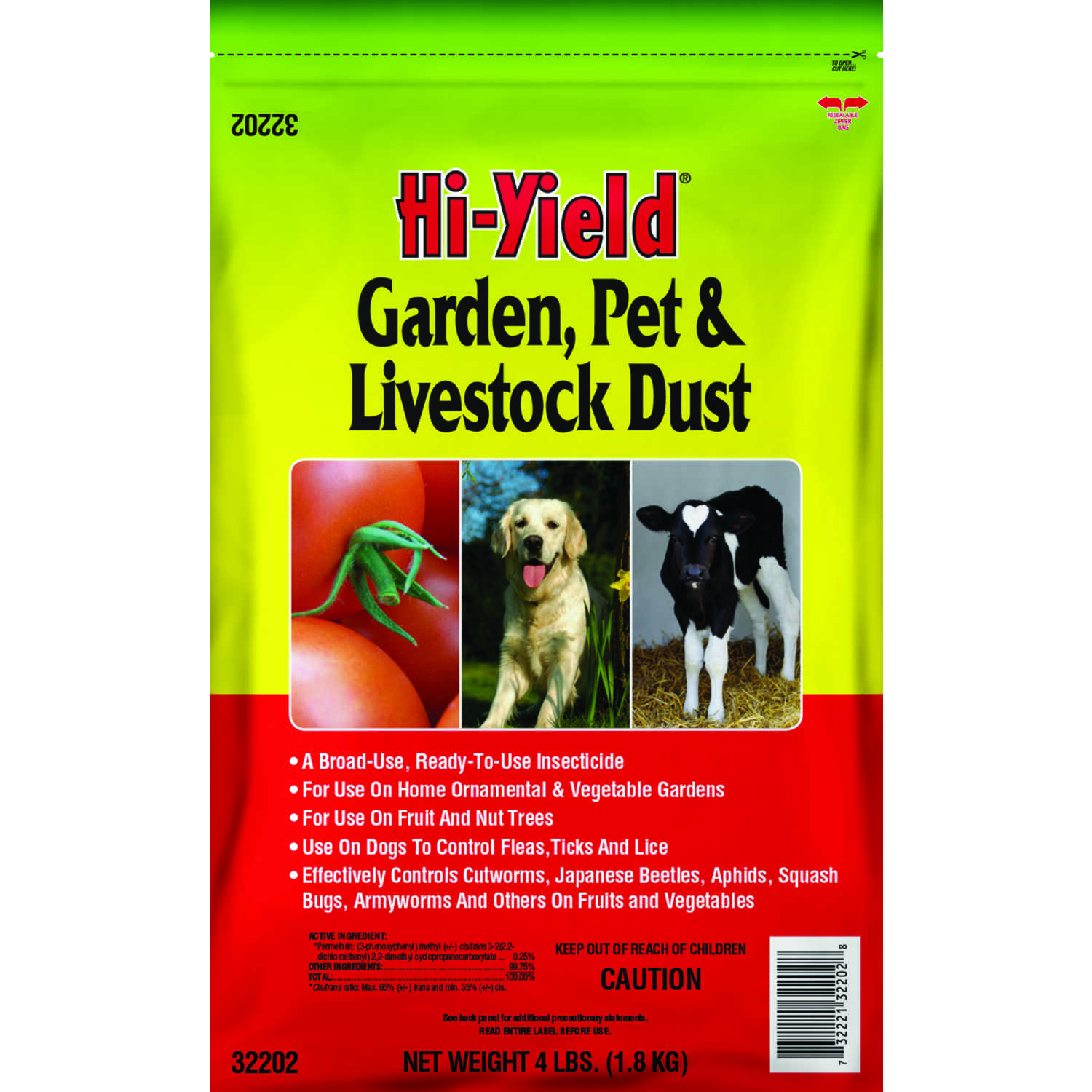 Hi-Yield  Garden, Pet and Livestock Dust  Insect Killer  4 lb.