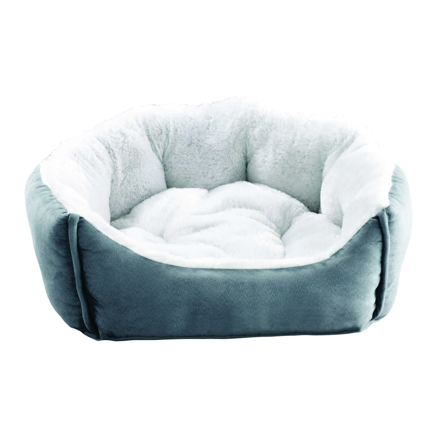 Animal Planet  Assorted  24 in. W x 21 in. L x 8 in. H Pet Bed  Oval  Micro Suede
