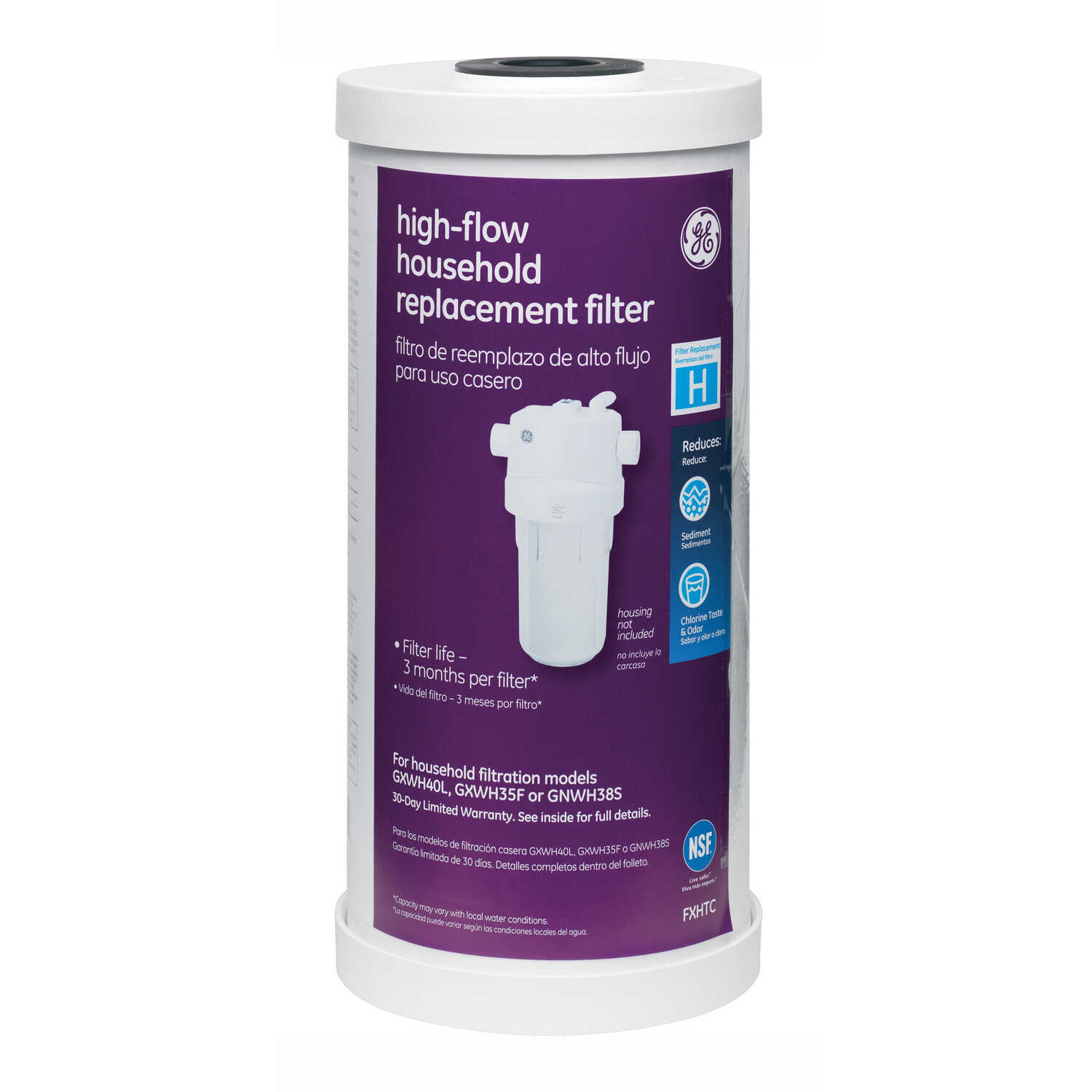 GE Appliances  High-Flow  Replacement Water Filter  For Whole House 30000 gal.