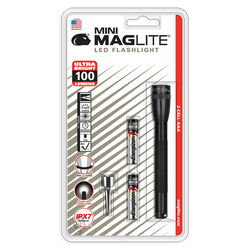 Maglite  Mini  100 lumens Black  LED  Flashlight  AAA Battery