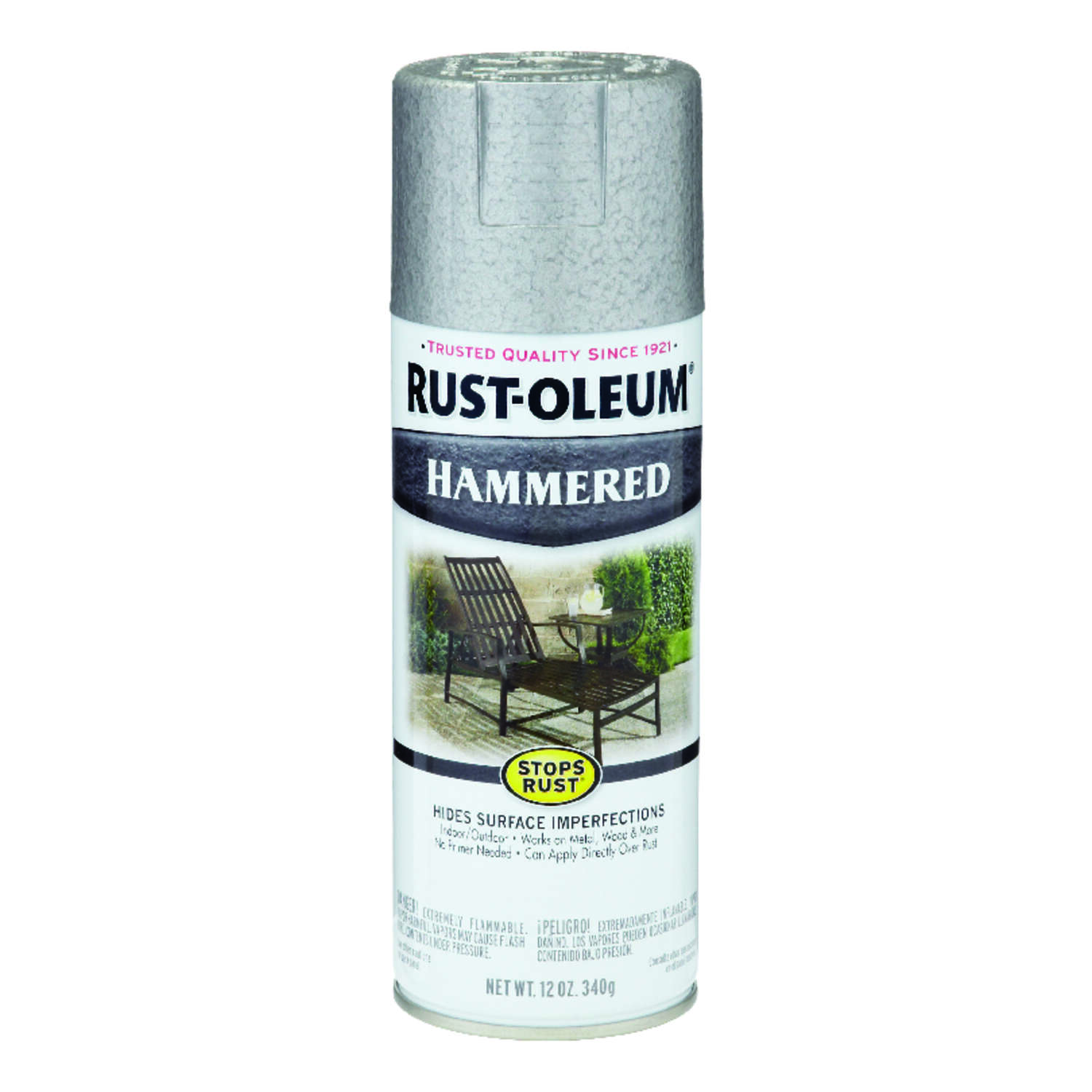 Rust-Oleum  Stops Rust  Hammered  Silver  Spray Paint  12 oz.
