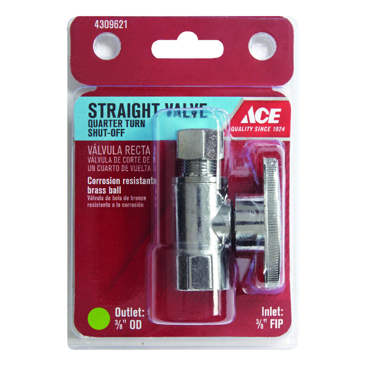 Ace  FIP   Compression  Brass  Straight Stop Valve