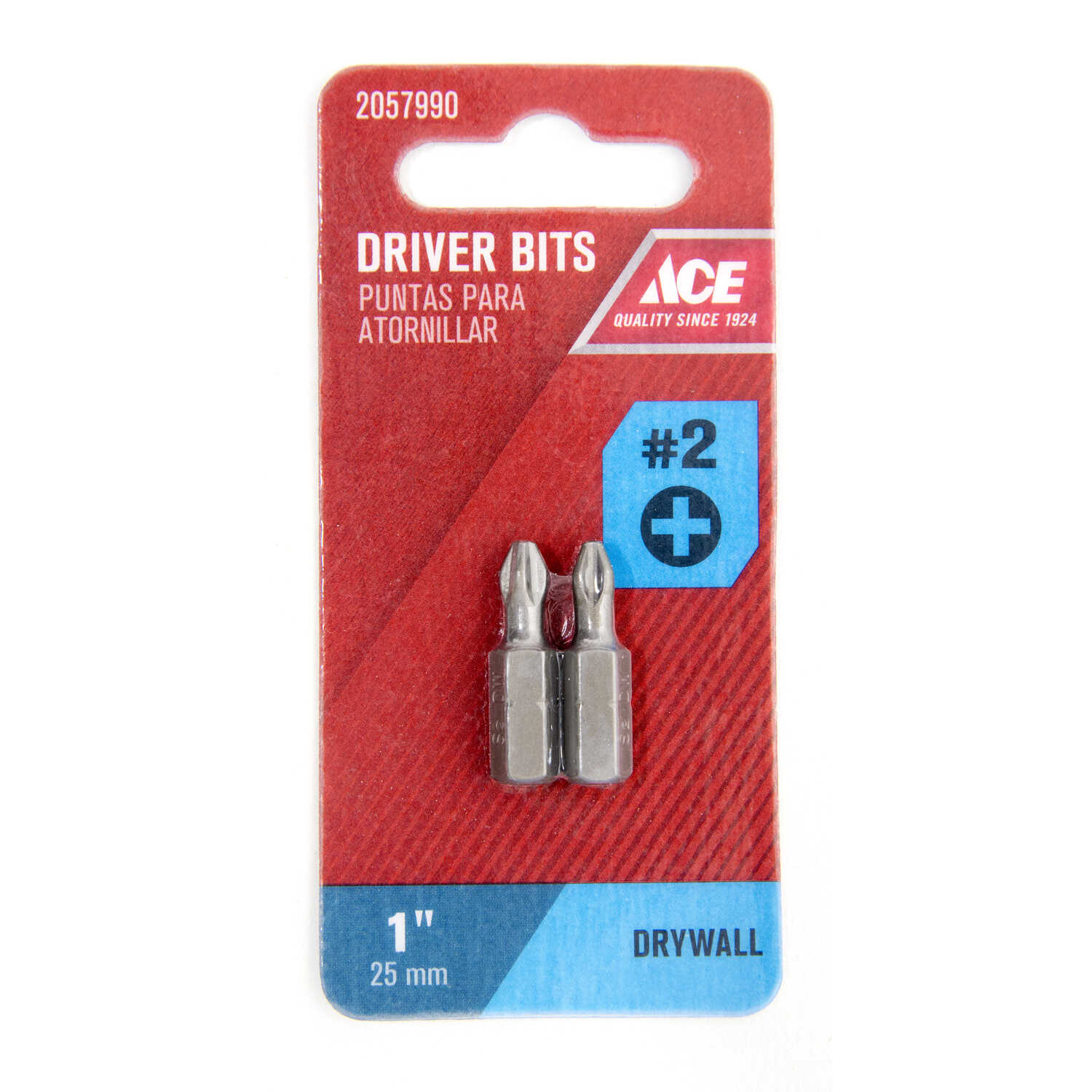 Ace  Phillips  1 in. L x 2   Drywall Insert Bit  S2 Tool Steel  Hex Shank  2 pc. 1/4 in.