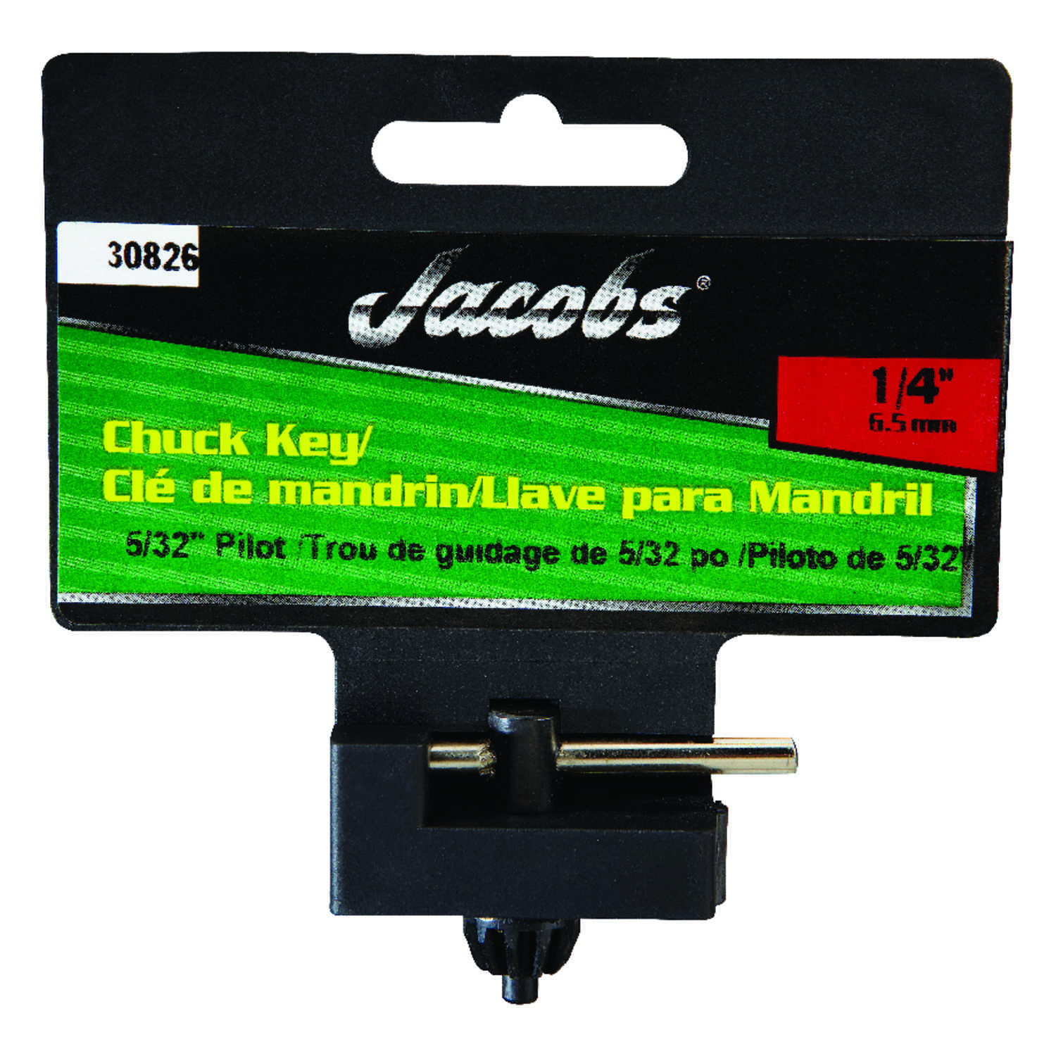 Jacobs  1/8 in.  x 1/4 in.  Chuck Key  T-Handle