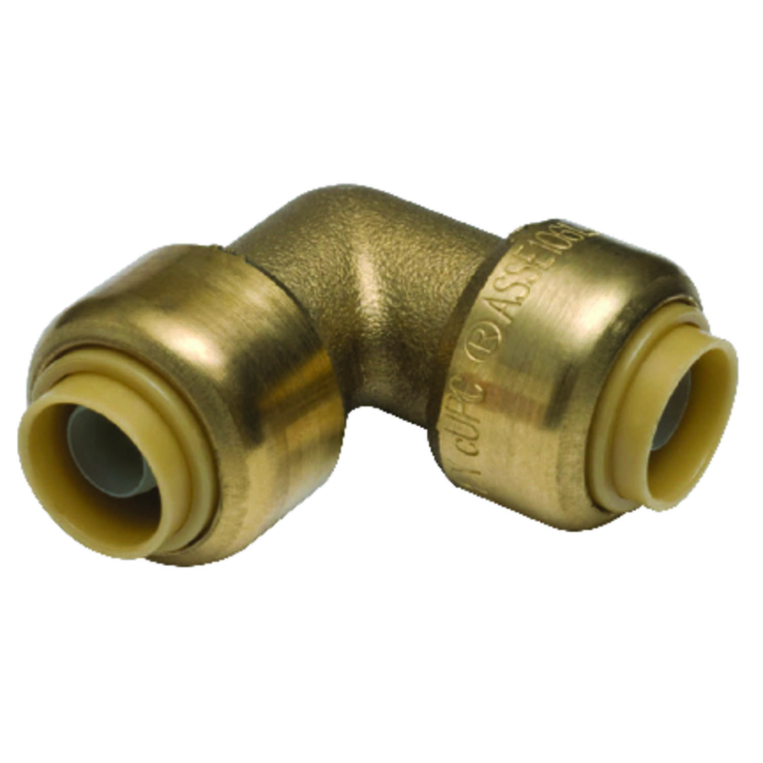 SharkBite  3/8 in. Push   x 3/8 in. Dia. Push  Brass  Elbow