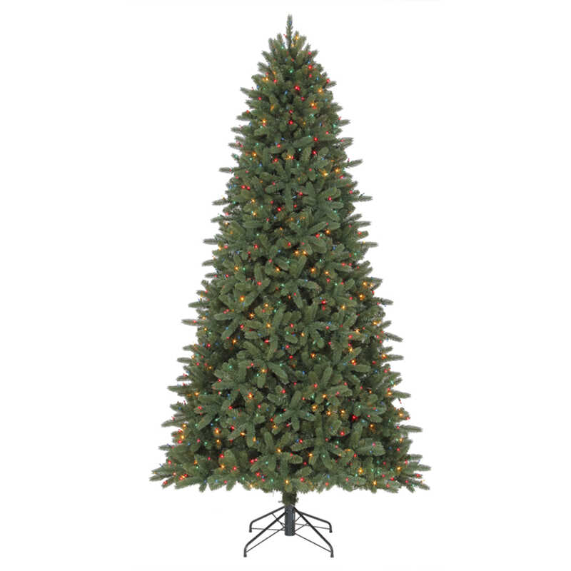 polygroup clearmulticolor prelit 9 ft illuminated grand fir christmas tree 1000 lights 2563