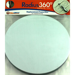 Full Circle  Radius 360  8-3/4 in. Dia. Fabric/Foam  Replacement Pad  1200 rpm 1 pc.