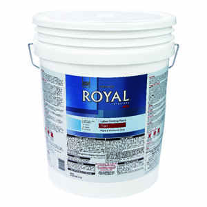 Ace  Royal  Flat  White  Latex  Ceiling Paint and Primer in One  5 gal.