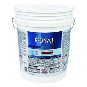 Ace  Royal  Flat  Latex  Ceiling Paint and Primer in One  5 gal. White