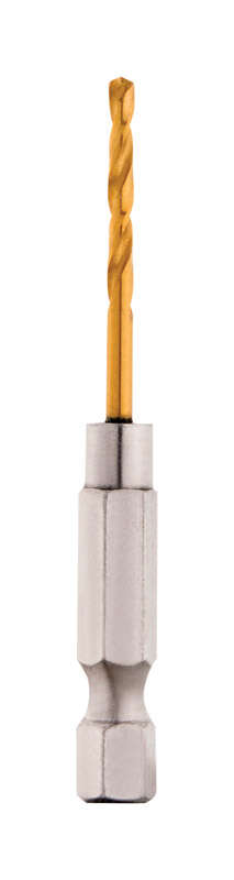 Milwaukee  SHOCKWAVE  3/32 in.  x 2.38 in. L Titanium  RED HELIX  Drill Bit  1 pc.