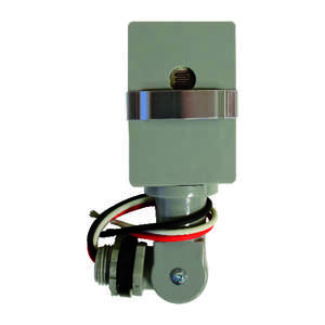 Amertac  Gray  Photoelectric  Swivel Light Control  1 pk