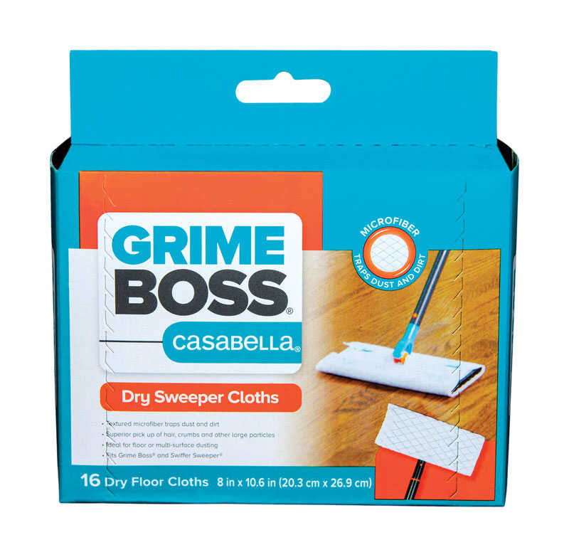 Grime Boss  Casabella  Microfiber  Cleaning Cloth  8 in. W x 10.6 in. L 16 pk