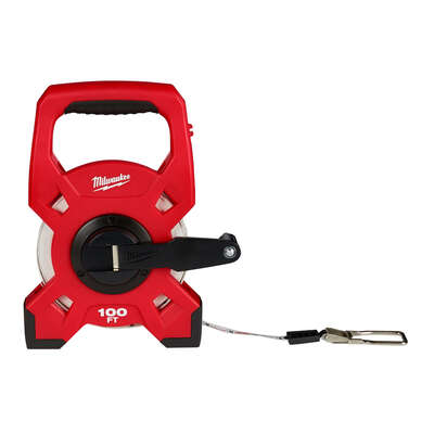 Milwaukee 100 ft. L x 1.75 in. W Open Reel Long Tape Measure 1 pk