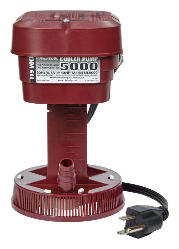 Dial  Plastic  Evaporative Cooler Pump  Red