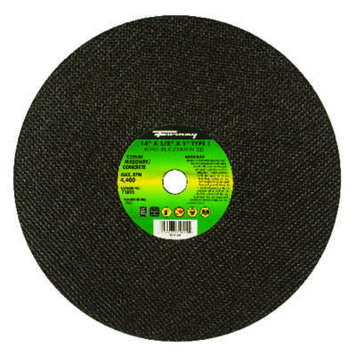 Forney 14 in. Dia. x 1 in. Silicon Carbide Masonry/Asphalt Cutting Wheel 1 pc.