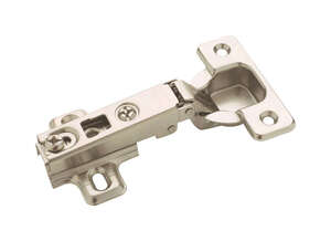 Amerock  2-7/16 in. W x 2-9/16 in. L Nickel  Steel  Full Frameless Concealed Hinge  2 pk