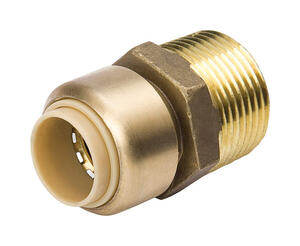 ProLine  Push   MPT  Brass  Push Fit Adapter