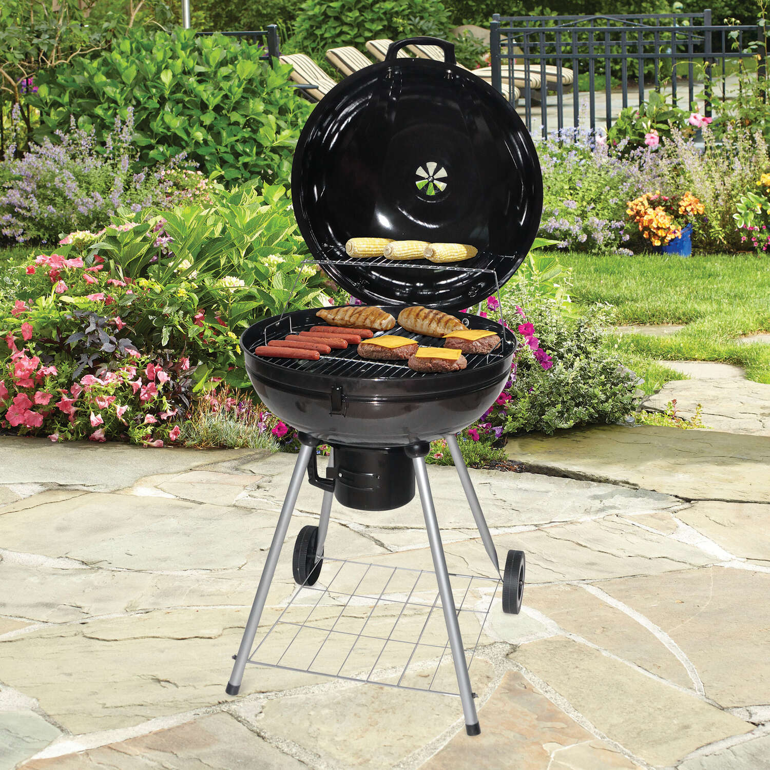 Grillmark  Charcoal  37 in. H Grill  Black