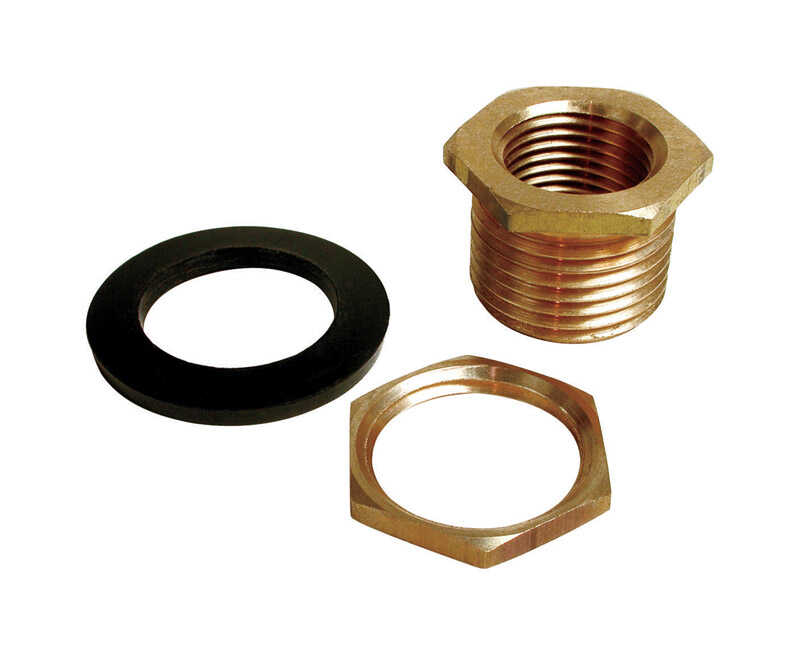 Dial  1 in. W Brass  Black  Evaporative Cooler Overflow Drain