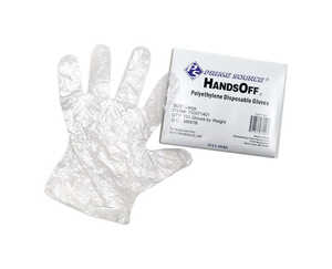 Hands Off  Foamed Nitrile/ Polyethylene  Clear  One Size Fits All  Food Service Gloves
