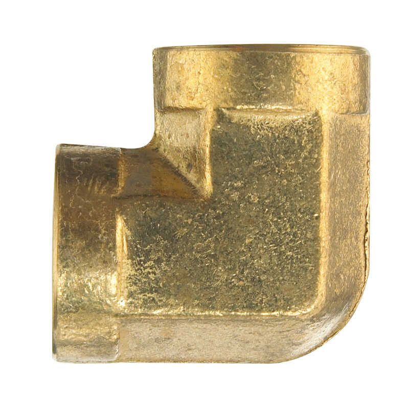 Ace  3/8 in. Dia. x 3/8 in. Dia. FPT To FPT  90 deg. Yellow Brass  Elbow