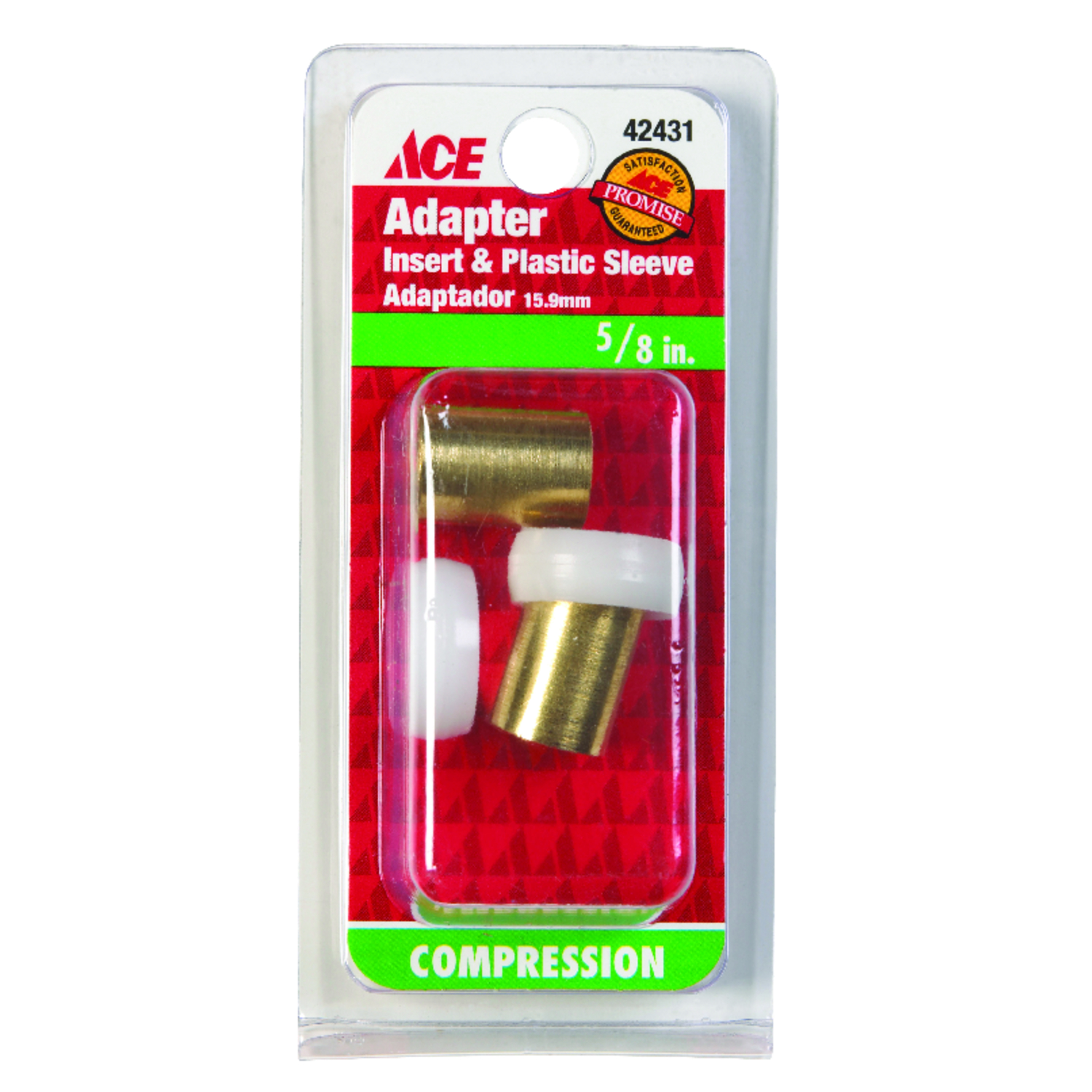 ACE  5/8 in. Dia. Compression  Brass  Insert and Sleeve