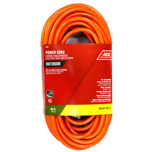 Ace  Indoor and Outdoor  50 ft. L Orange  Extension Cord  12/3 SJTW