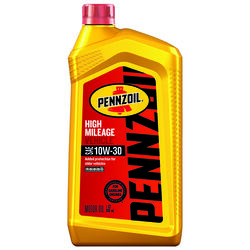 PENNZOIL  High Mileage Vehicle  10W-30  4 Cycle Engine  Synthetic  Motor Oil  1 qt.