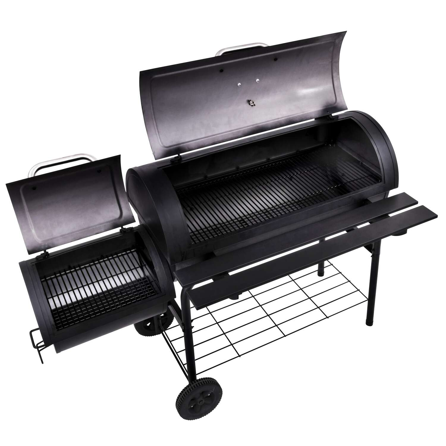 Char-Broil  American Gourmet  Charcoal  57.87 in. W Offset Smoker  Black