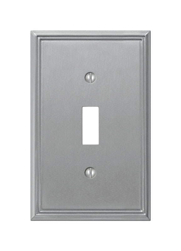 Amerelle  Metro  1 gang Die-Cast Metal  Toggle  1 pk Wall Plate