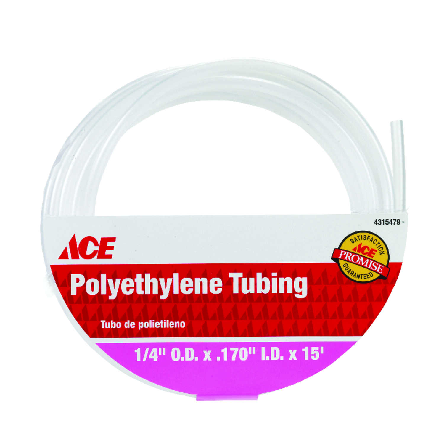 ProLine  0.17 in. Dia. x 15 ft. L Polyethylene  Polyethylene Tubing