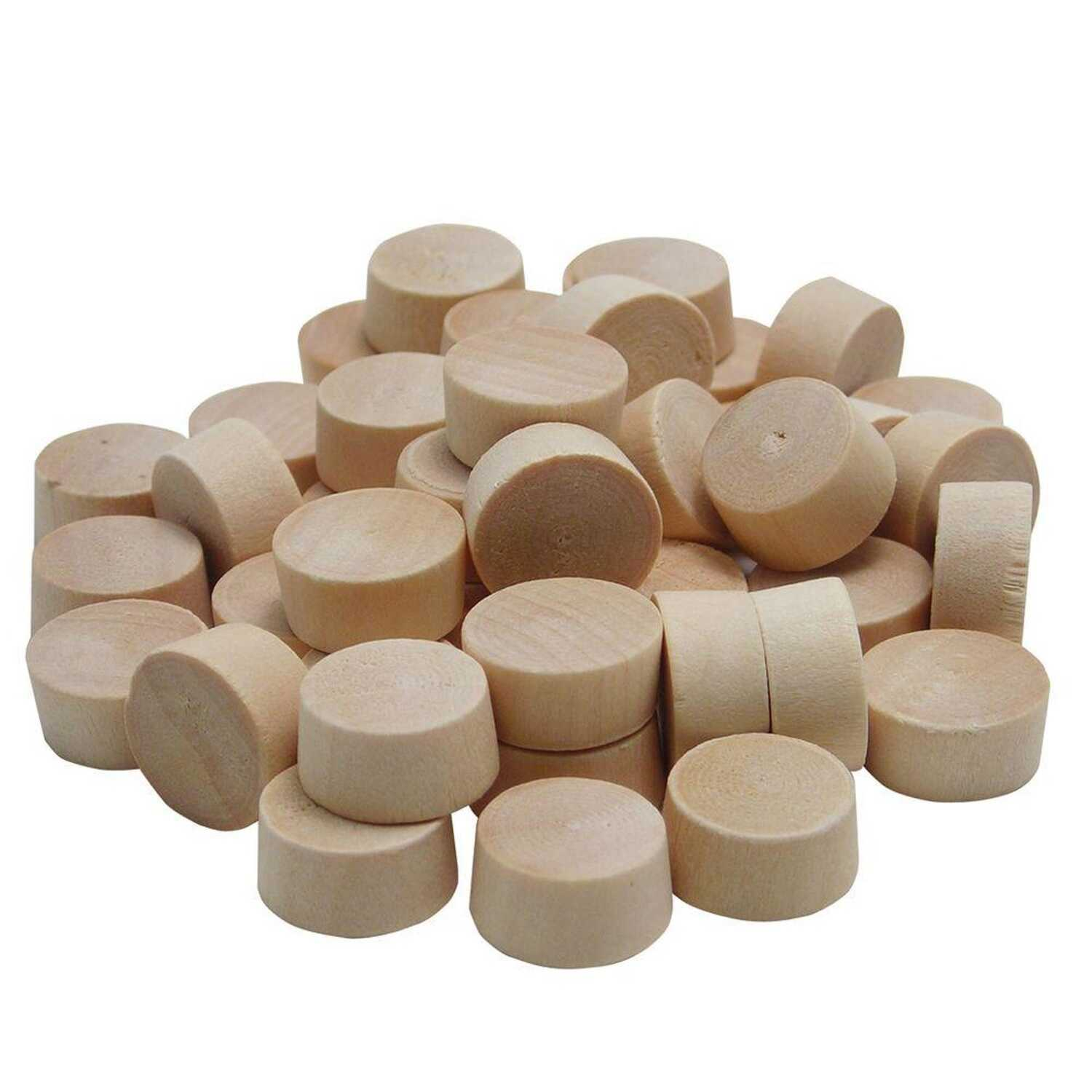 Wolfcraft  Flat  Birch  Head Plug  1/2 in. Dia. x 1/4 in. L 1 pk Natural