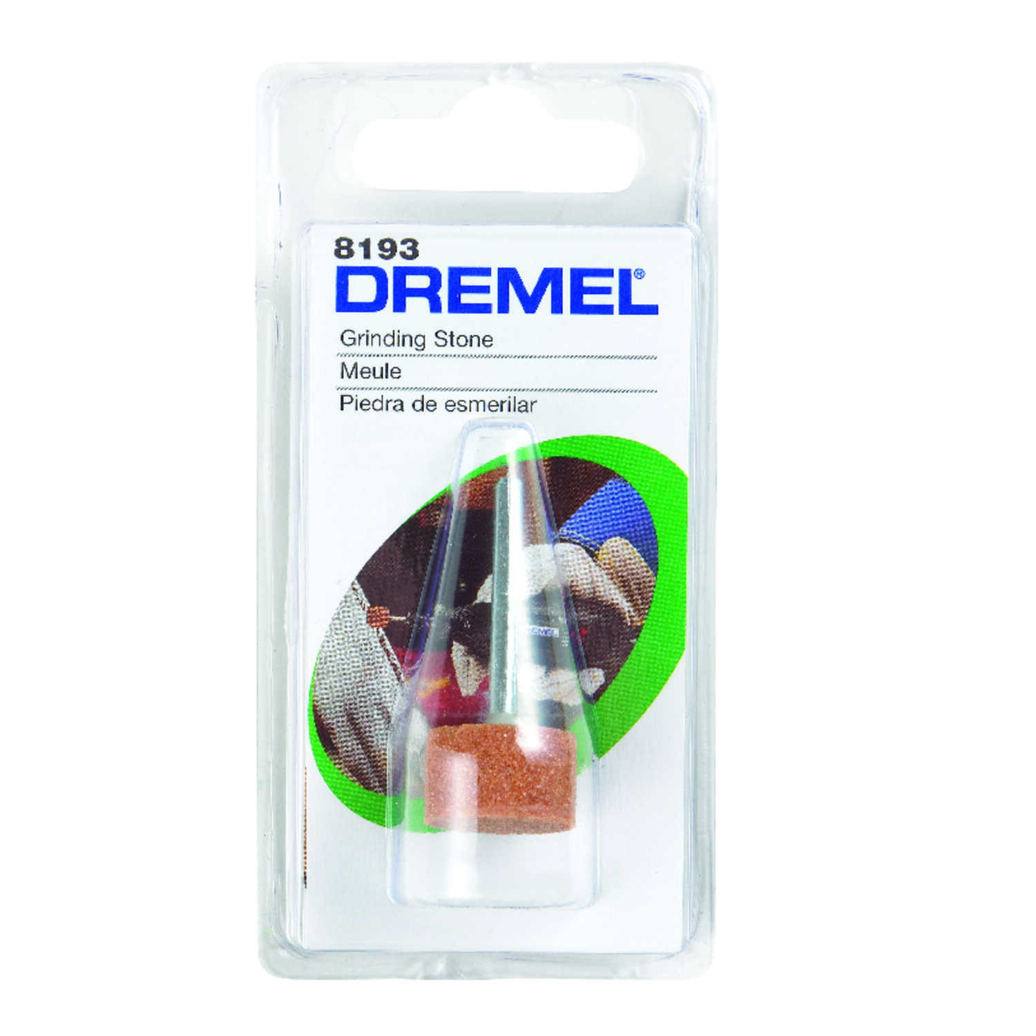 Dremel  5/8 in. Dia. x 1 in. L Cylinder  35000 rpm 1 pc. Aluminum Oxide  Grinding Stone