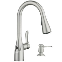 Moen Arlo One Handle Stainless Steel Kitchen Faucet