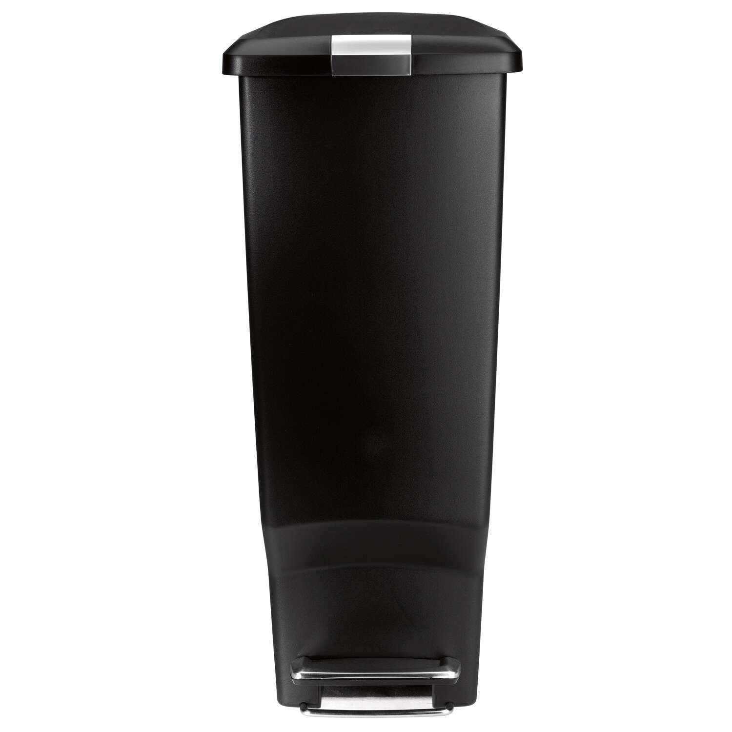 simplehuman  10.6  Black  Slim Step  Wastebasket