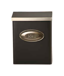 Gibraltar Mailboxes  Designer  Galvanized Steel  Wall-Mounted  Bronze  Lockable Mailbox  12-1/2 in.