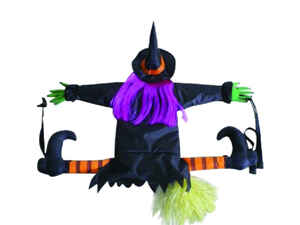 Gemmy  Hanging decor  Crashing Witch  Halloween Decoration  31.10 in. H x 1.18 in. W 1 pk
