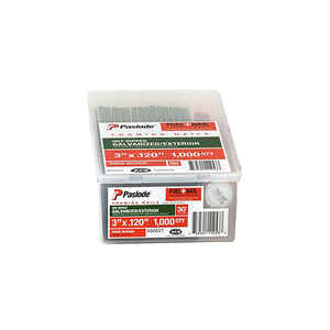 Paslode  30 deg. 18 Ga. Ring Shank  Angled Strip  Fuel and Nail Kit  3 in. L x 0.12 in. Dia. 1000 pk