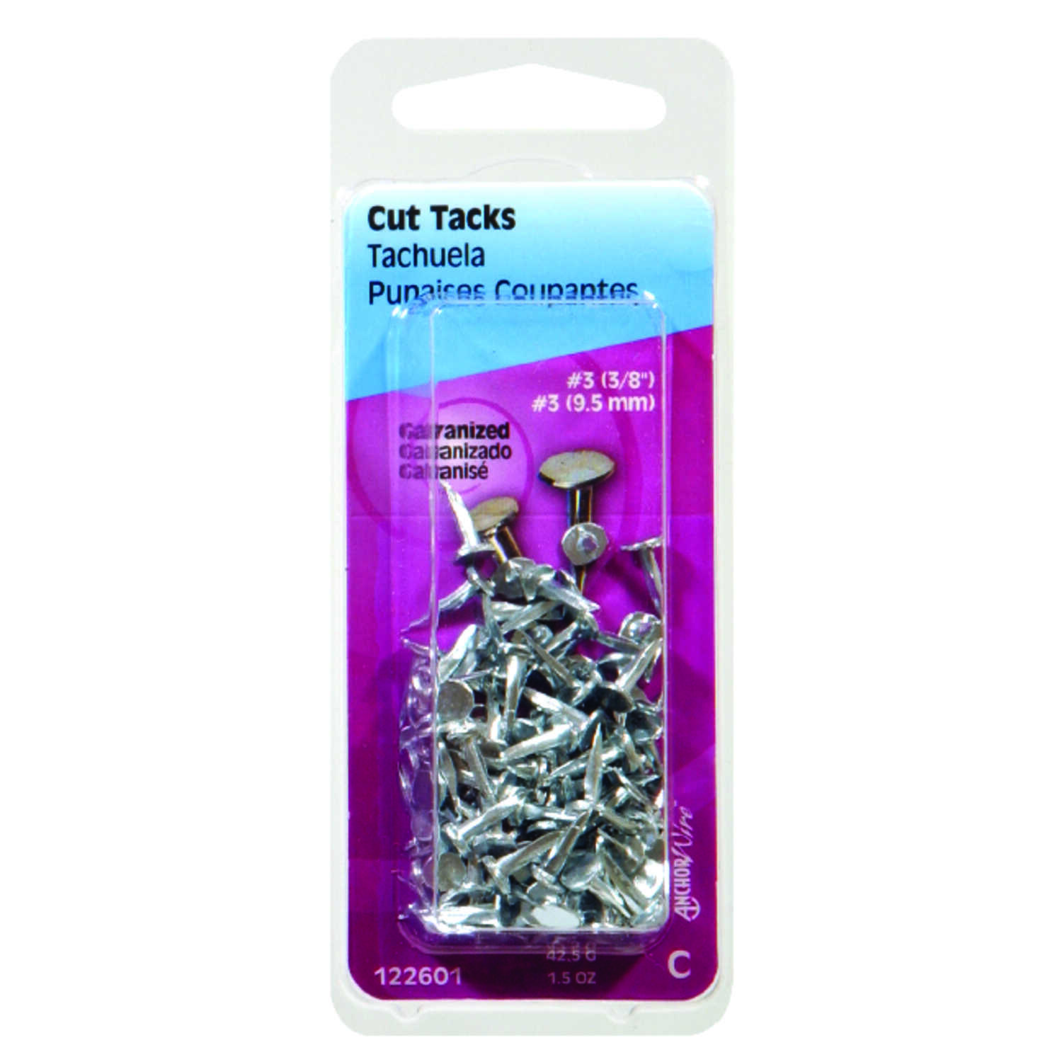 HILLMAN  No. 14   x 3/4 in. L Silver  Steel  Galvanized  1.75 pk Cut Tacks