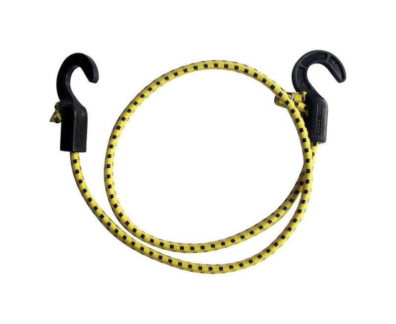 Keeper  Zip Cord  Yellow  Bungee Cord  40 in. 0.315 in. 1 pk