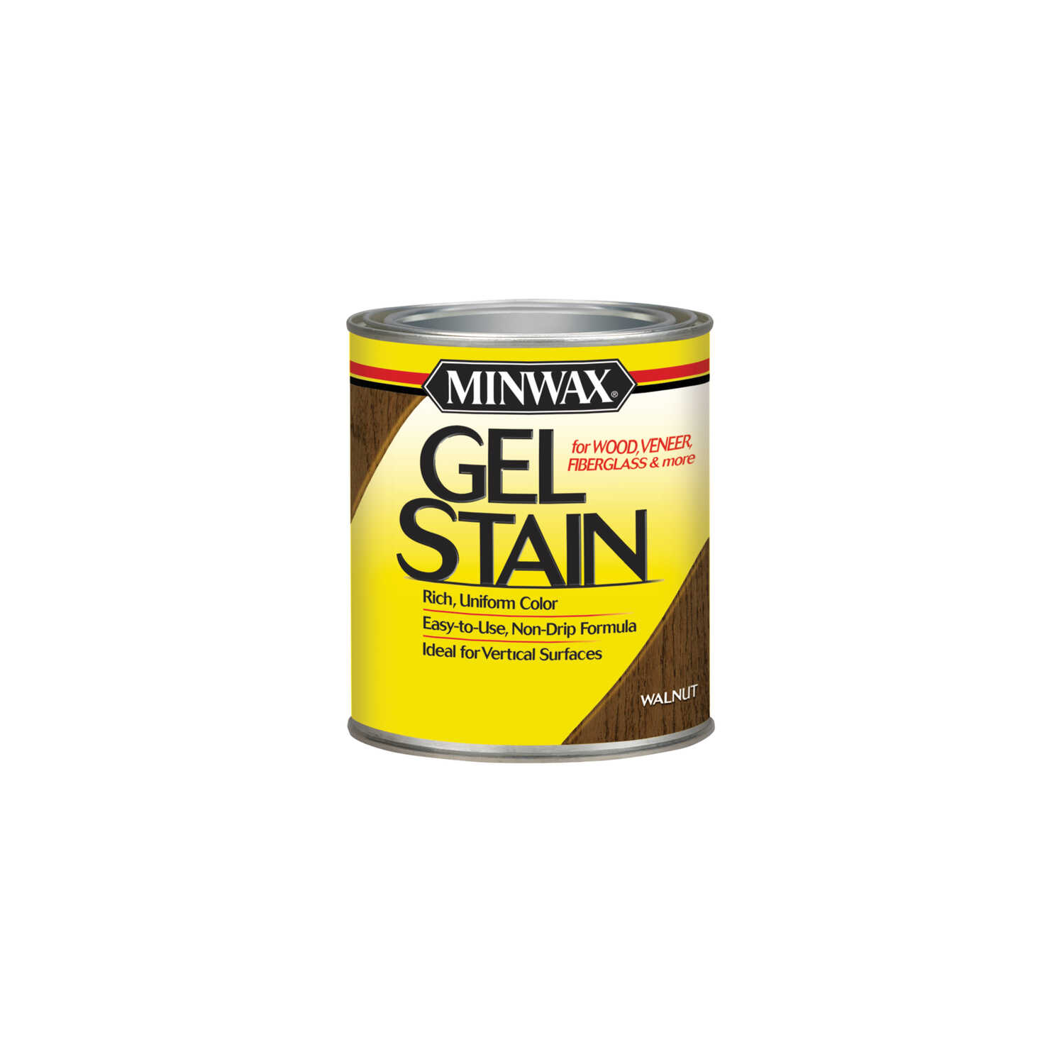 Minwax  Transparent  Low Luster  Walnut  Oil-Based  Oil  Gel Stain  0.5 pt.