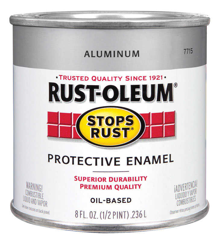 Rust-Oleum  Gloss  Oil-based Protective Enamel Paint  Metallic  8 oz.