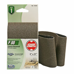 Shopsmith  21 in. L x 3 in. W Ceramic  Sanding Belt  80 Grit Medium  1 pc.