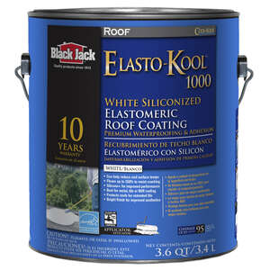 Black Jack  Ultra-Roof 1000  Gloss  White  Acrylic  White Siliconized Elastomeric Roof Coating  1 ga