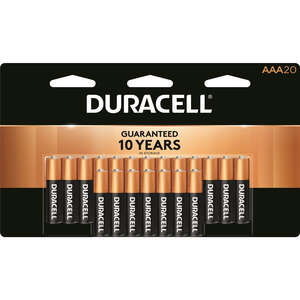 Duracell  Coppertop  AAA  Alkaline  Batteries  1.5 volts Carded  20 pk