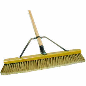 Quickie  Job Site  Smooth Surface Push Broom  24 in. W x 60 in. L Polypropylene